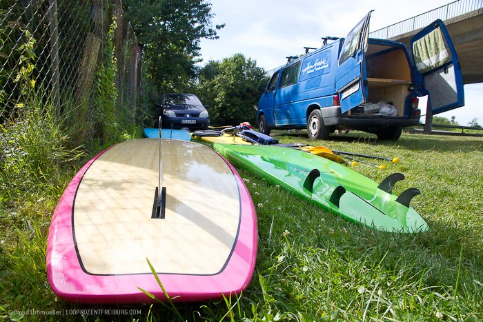 Stand-up-Paddling in Freiburg (1)