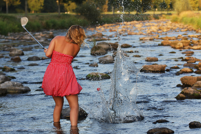 Wassergolf in der Dreisam (3)
