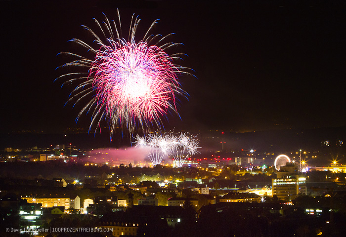 Freiburger Herbstmesse: Das Feuerwerk