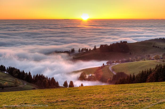 Inversionswetter: Traumkulisse Schauinsland