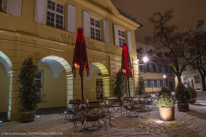 Freiburger Münsterplatz im Schnee (5)