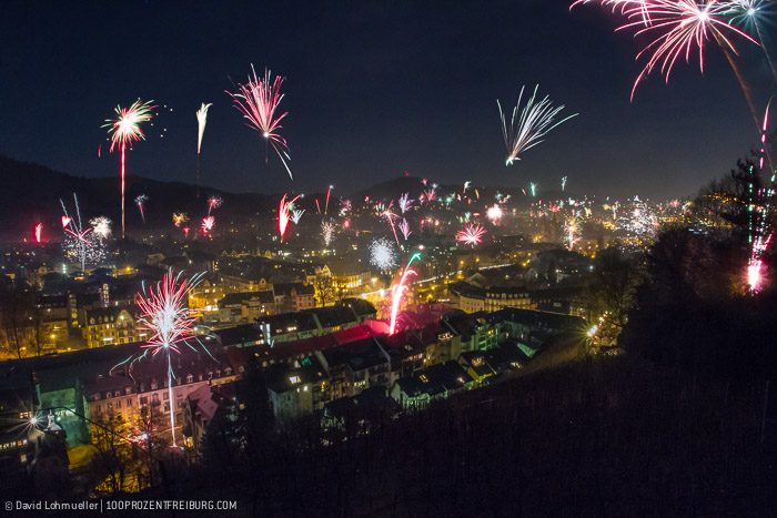 Silvester Feuerwerk Freiburg (2)
