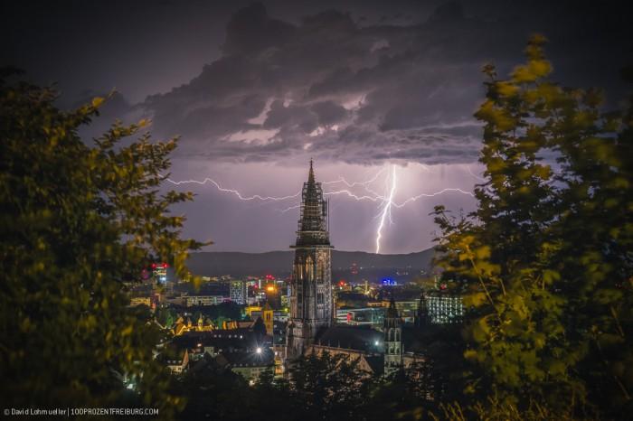 Sommergewitter in Freiburg (1)