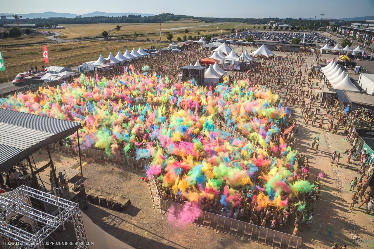 Farbenfreude: Holi Festival in Freiburg