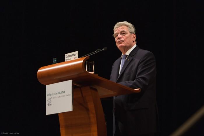Joachim Gauck in Freiburg (1)