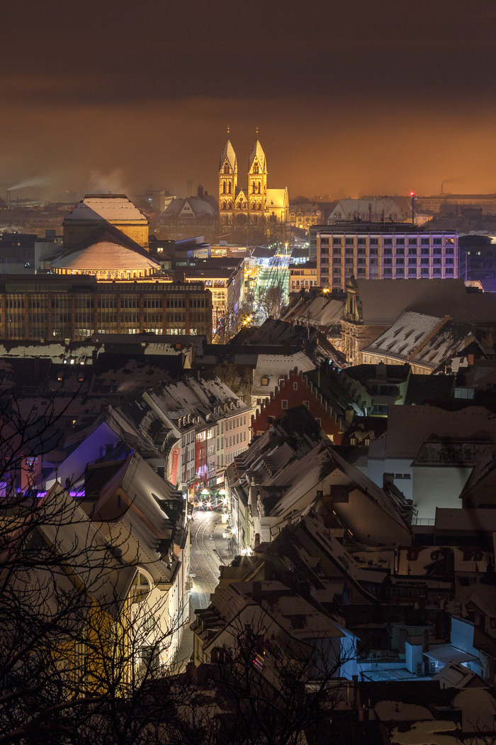 Magische Winternacht in Freiburg