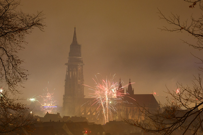 Silvesterfeuerwerk Freiburg
