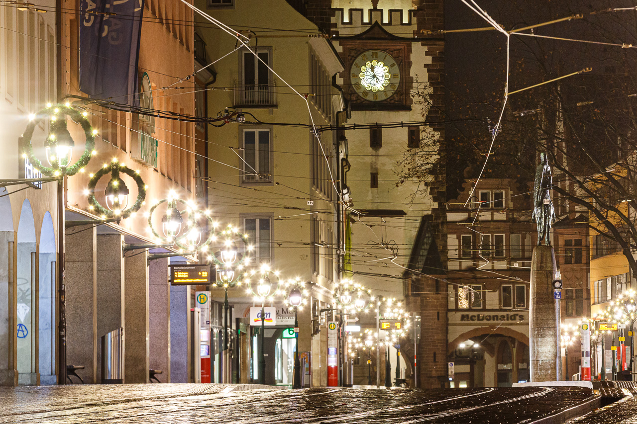 Corona Heilig Abend in Freiburg