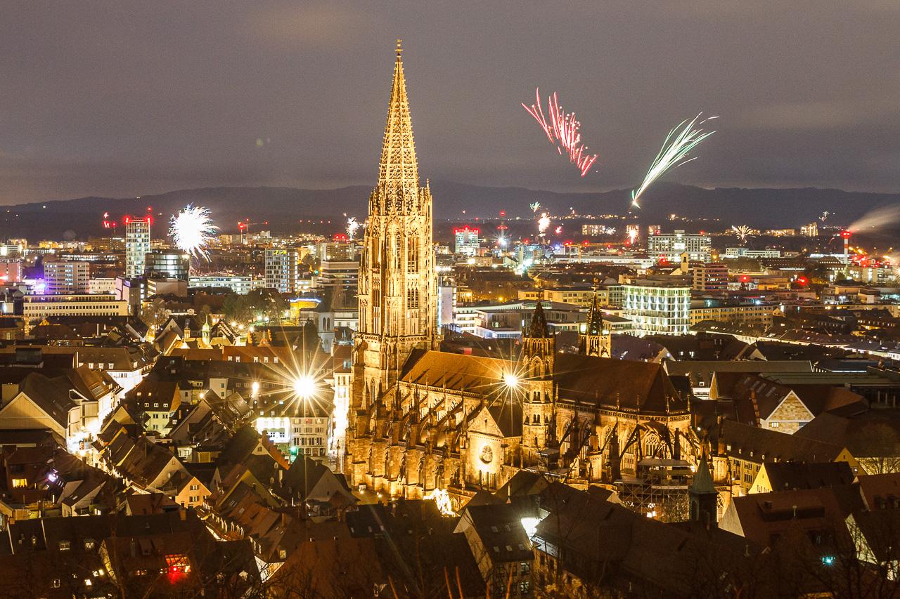 Die Corona-Silvesternacht über Freiburg