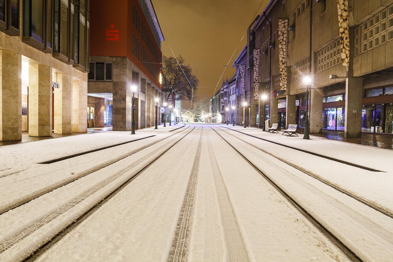 Corona Sperrstunde im Schnee